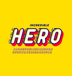 Comics style font design super hero alphabet vector