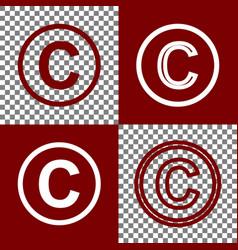 Copyright sign bordo and vector