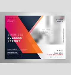 Creative business flyer design template vector