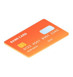 Credit card icon isometric style vector