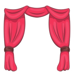Curtain on stage icon cartoon style vector image