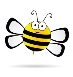 Cute bee vector
