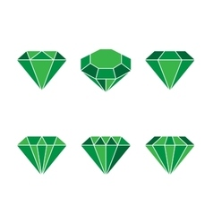Diamond set icon shiny vector