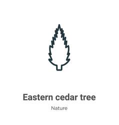Eastern redcedar tree outline icon thin line vector