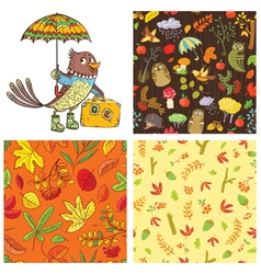 Fall season set vector