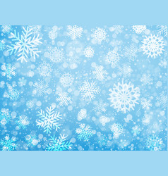 Falling snow christmas and new year background vector