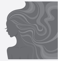 fashion line art silhouette of a beautiful woman vector image