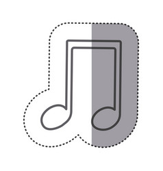 figure sign music note icon vector image
