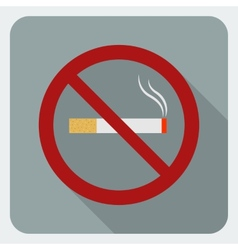 Flat icon no smoking Stop smoking symbol vector image