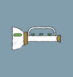 Flat shading style icon children trumpet vector