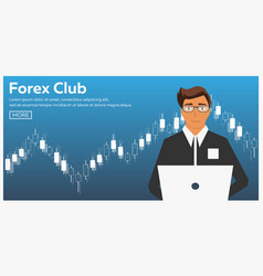 Forex market trading forex club online trading vector