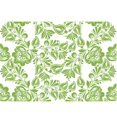 Greenery floral seamless pattern background vector