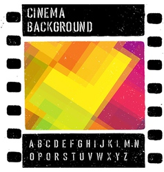 Grunge colorful cinema background vector