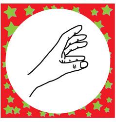 Hand gesture grabbing vector