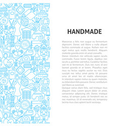 Handmade line pattern concept vector