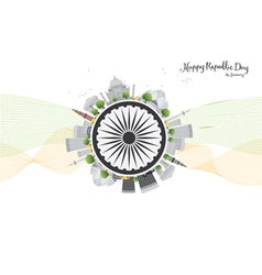 Happy Indian Republic Day celebration vector image