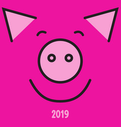 happy new year 2019 year of the pig vector image