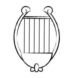 harp music instrument sketch vector image