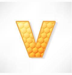 Honey alphabet vector