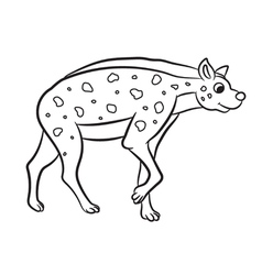 Hyena standing outlined vector