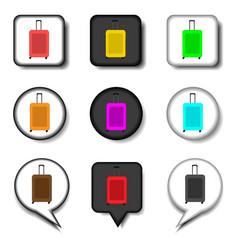 icon logo for set symbols suitcase vector image