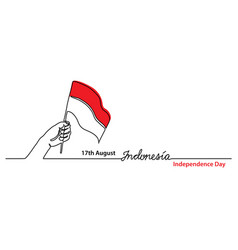 Indonesia independence day simple web banner vector