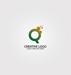initial c letter logo template logo technology vector image