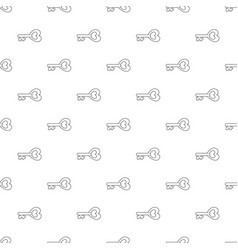 key to heart pattern seamless vector image