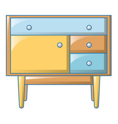 kids bedside table icon cartoon style vector image