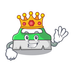 King scrub brush mascot cartoon vector