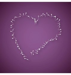 Large number of sperms with heart vector image