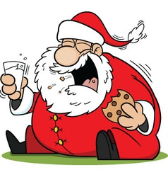 Laughing Santa Claus Cartoon vector image