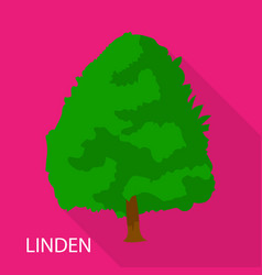 Linden icon flat style vector