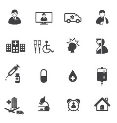 medical and hospital er icons vector image