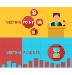 Meeting banner set vector image