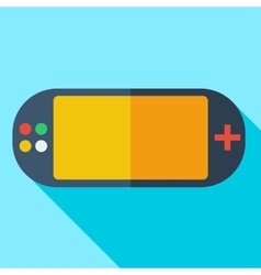 Modern flat design concept icon video game vector image
