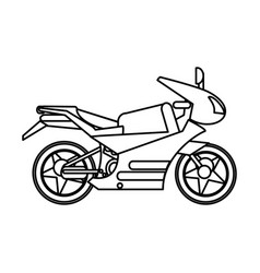 Motorcycle transport image outline vector