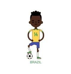 National brazil soccer football player vector image