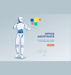 office assistance concept vector image