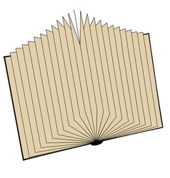 open book in vector image