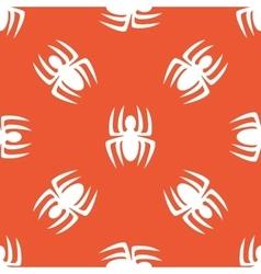 Orange spider pattern vector
