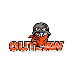 outlaw biker angry mascot vector image