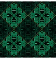 Patchwork emerald green texture vector