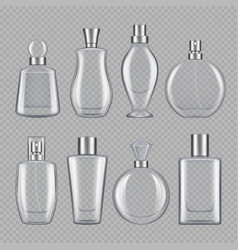 Perfumes for male and female various bottles of vector