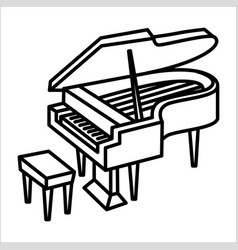 piano music instrument icon and vector image