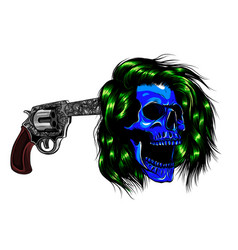 pistol at temple design vector image