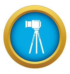 Political candidate interview icon blue vector