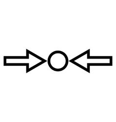 Pressure Horizontal Contour Icon vector
