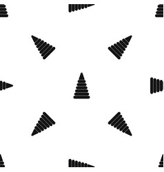 Pyramid built from plastic rings pattern seamless vector