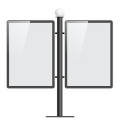 realistic light box template on white background vector image